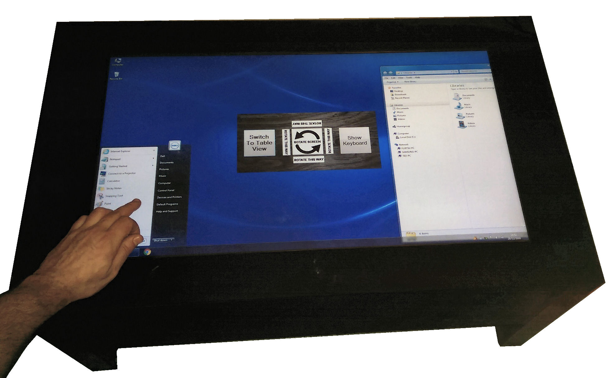 touch screen table 9